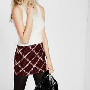 Express Houndstooth Tweed Mini Skirt 12